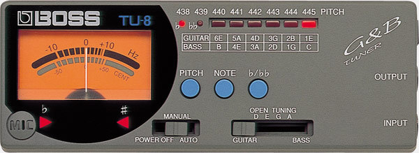 Boss TU-8 Guitar / Bass Tuner