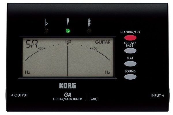 Korg GA‑40 Advanced Solo Tuner Guitar/Bass
